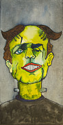 Asbury Park Funhouse Painting Originals - Frankensteins Monster as Tillie by Patricia Arroyo