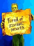 Frankenstein's Monster Turns Activist Print by John Malone