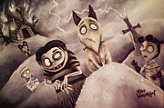 Nightmare Before Christmas Painting Prints - Frankenweenie Print by Michael Vanderhoof