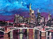 Frankfurt Main Germany - Mainhattan Skyline Print by M Bleichner