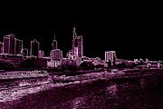 Frankfurt Purple Print by Adam  S