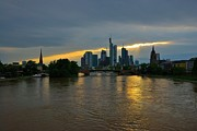 Frankfurt Sunset Print by Steven Richman