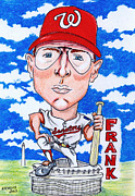 Baseball Drawings Acrylic Prints - Frank_Howard Acrylic Print by Paul Nichols