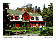 Franklin Mixed Media Metal Prints - Franklin D. Roosevelt Cottage Campobello NB Metal Print by Art  MacKay
