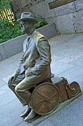 Franklin Delano Roosevelt In A Wheelchair Print by Cora Wandel