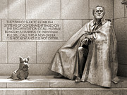 Franklin Digital Art Metal Prints - Franklin Delano Roosevelt Memorial - Bits and Pieces 7 Metal Print by Mike McGlothlen