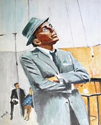 Frank Sinatra Painting Originals - Frankly Speaking by Judy Kay