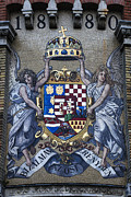 Coat Of Arms Prints - Franz Joseph Motto Print by David Waldo