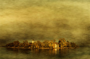 Haze Pyrography Prints - Frauenchiemsee Print by manhART
