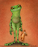 Frog Paintings - Fred and Ted... by Will Bullas