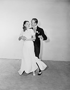 Judy Garland Framed Prints - Fred Astaire with Judy Garland Framed Print by Sanely Great