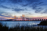 La Porte Framed Prints - Fred Hartman Bridge at Twilight Hour Framed Print by Silvio Ligutti