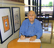 At Work Framed Prints - Fred Sketching at Starbucks  Framed Print by Fred Jinkins