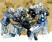 Running Back Mixed Media - Fred Taylor by Michael  Pattison
