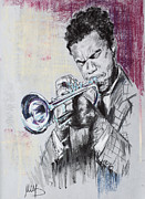 Music Pastels Originals - Freddie Hubbard by Melanie D