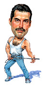 Caricatures Paintings - Freddie Mercury by Art