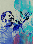 British Rock Band Prints - Freddie Mercury Queen Print by Irina  March