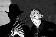 Jason Voorhees Prints - Freddy and Jason Print by John Gaffen