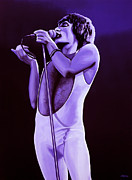 Vocalist Metal Prints - Freddy Mercury 4 Metal Print by Paul  Meijering