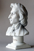 New York Sculpture Prints - Frederic Chopin bust Print by Andrew Szczepaniec SETTA