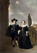 Famous Artists - Frederick van Velthuysen and his wife Josina by Thomas de Keyser