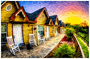 Impressionistic Oil Digital Art - Fredericksburg Motel by Dean Fikar