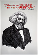 Black History Paintings - Fredrick Douglass by Sushobha Jenner