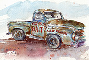 Rusty Truck Paintings - Freds Truck by Leslie Fehling
