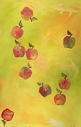 Vitamins Paintings - Free Apples by PainterArtist FIN