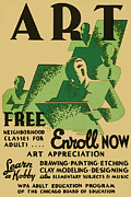 Drafting Posters - Free Art Class Poster by The  Vault - Jennifer Rondinelli Reilly