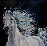 Trotting Paintings - Free by Julie Brugh Riffey