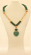 Long Necklace Jewelry - FREE SHIPPING a Combination of turquoise necklace and gold chain by Batya Salomon
