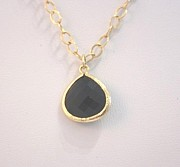 Long Necklace Jewelry - Free Shipping Idit Stern Black Teardrop Necklace by Idit Stern