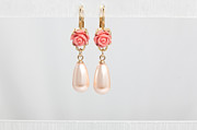 Multicolor Jewelry - FREE SHIPPING Idit Stern Roses and Pearls Earrings by Idit Stern