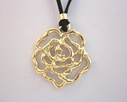 Long Necklace Jewelry - Free Shipping Idit Stern Twisted Rose Pendant Necklace by Idit Stern