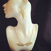 Long Necklace Jewelry - Free Shipping SET Idit Stern Beautiful Leaf Necklace and Earrings by Idit Stern
