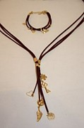 Long Necklace Jewelry - Free Shipping SET Idit Stern Charming Suede Bracelet and Necklace by Idit Stern