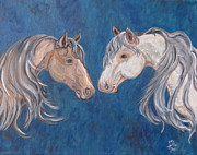 Mustang Paintings - Free Spirits by Ella Kaye