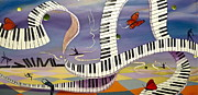 Elton John Painting Posters - Free to Fly Poster by Tammy Watt