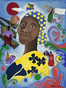 African-american Painting Framed Prints - Free to Remember Framed Print by Patricia Sabree