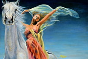 Virtue Paintings - Freedom-Beauty Adorns Virtue by Maxx Phoenixx