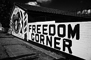 Murals Photo Prints - freedom corner loyalist murals in Lower Newtownards Road area of protestant East Belfast Northern Ireland Print by Joe Fox