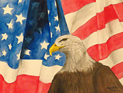 American Eagle Paintings - Freedom by Elizabeth Harshman