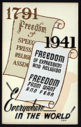 Free Speech Posters - FREEDOM EVERYWHERE in the WORLD Poster by Daniel Hagerman