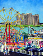 Rides Painting Originals - Freedom Festival by Susan Duxter