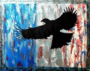 Patriotism Paintings - Freedom Flight by JoNeL Art