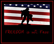 Serve Digital Art Prints - Freedom is not Free Print by Bill Cannon