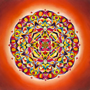Twin Flame Art - Freedom - Sacral Chakra Mandala by Vikki Reed