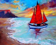 Liberty Paintings - Freedom Sails by Helena Bebirian
