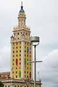  Eyzen Medina Pyrography - Freedom Tower Biscayne Boulevard by Eyzen Medina